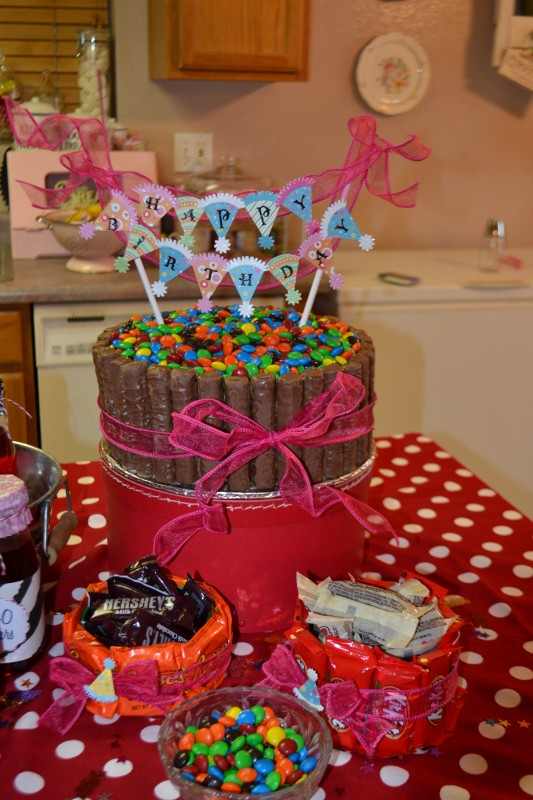 how to make a candy filled cake