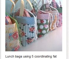 Chevron Lunch bag!  Tutorial from Pink Penguin