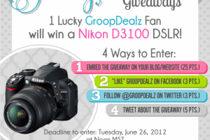 GroopDealz is giving away a Nikon D3100!
