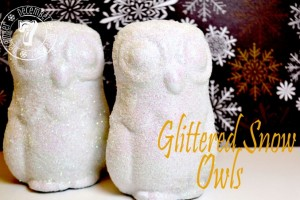 Glittered Snow Owl Tutorial