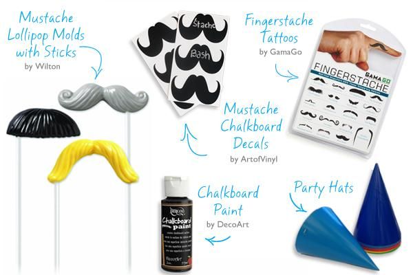 Celebrations Crate mustache Party Kit giveaway at pinkcakeplate.com