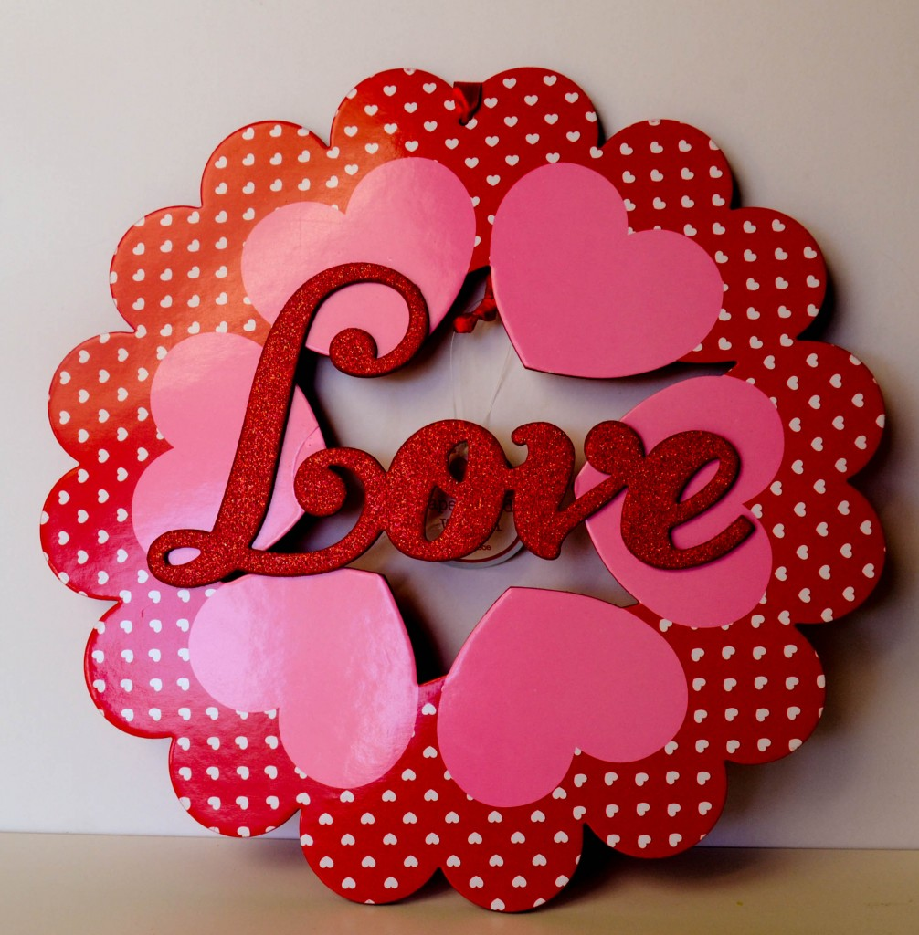 Quick and easy valentine crafts - Valeintineswreath1 Pinkcakeplate Com