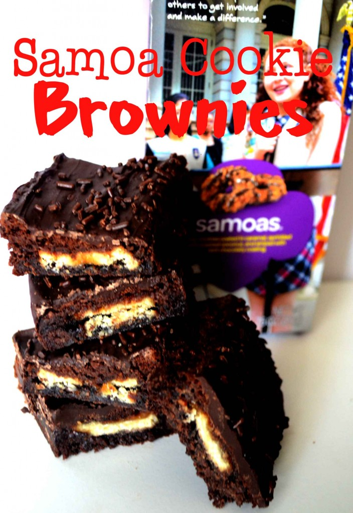 Samao Cookie Brownies @ pinkcakeplate.com