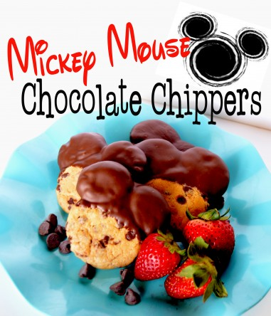 Mickey Mouse Chocolate Chippers at Pinkcakeplate.com