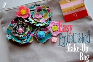 Easy Embellished Make-up Bag using Spellbinder Dies!!!