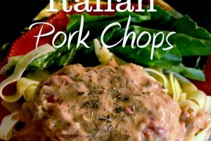 Slow Cooker Italian Pork Chops with Parmesan Noodles