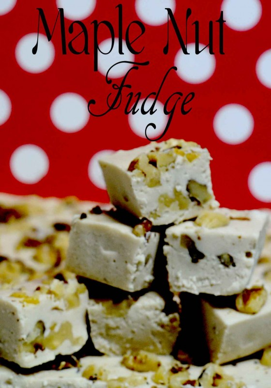 day 1~12 days of christams candy maple nut fudge! 5 days of fudge!! day 1