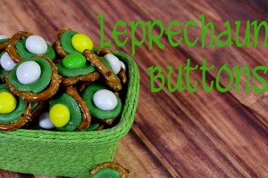 Leprechaun Buttons Easy St. Paddy's Day Treat!