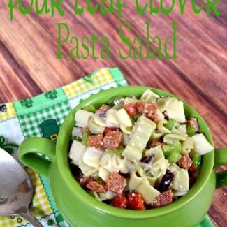 four-leaf-clover-pasta-salad-pinkcakeplate1
