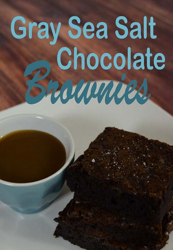 Gray Sea Salt Chocolate Brownie Recipe from Pinkcakeplate.com