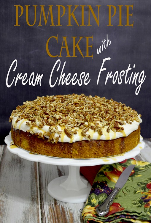 Pumpkin pie cake w cream cheese frosting
