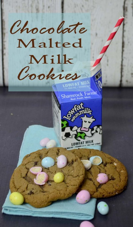 chocolate malted milk cookies hero