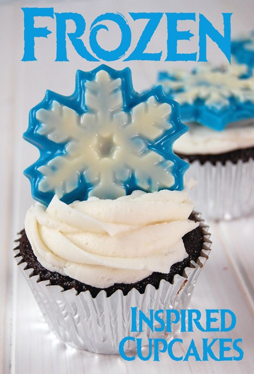 frozen inspired cupcake hero