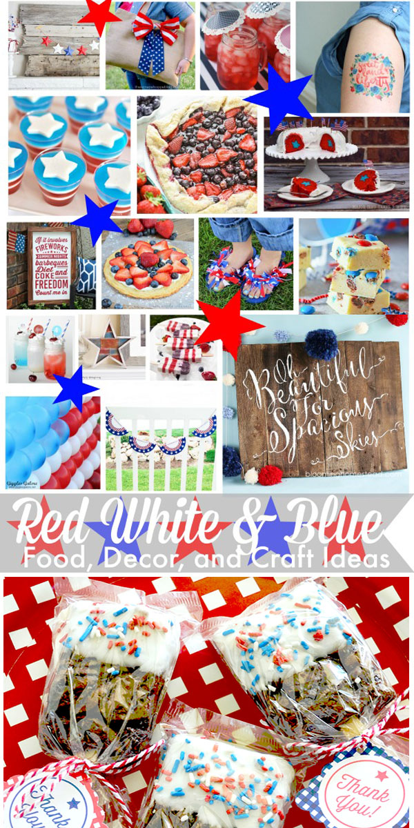Red White and Blue Food Decor and Craft Ideas 1