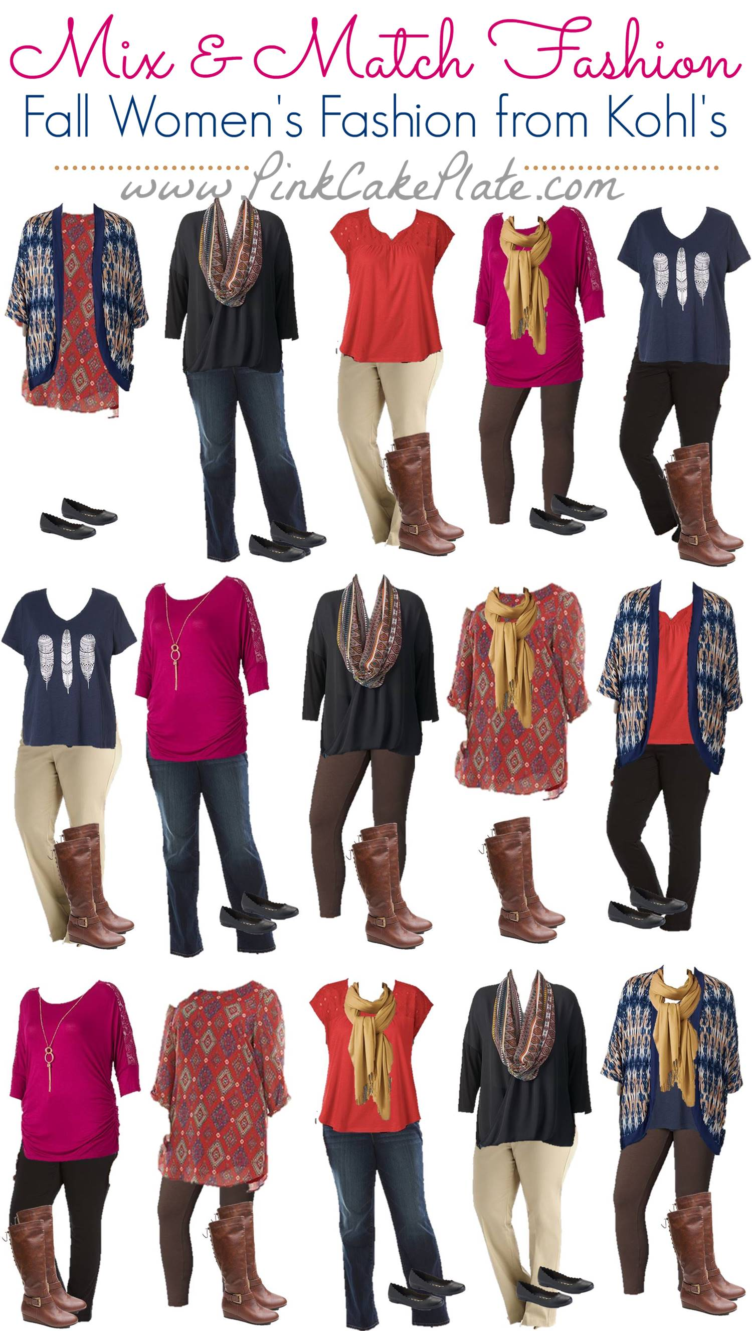 2015 Fall Mix Match Plus Size Fashion