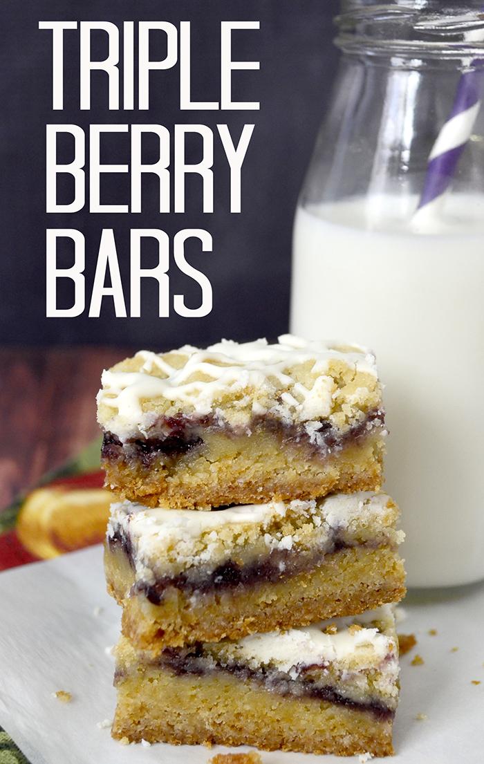 Triple Berry Bars