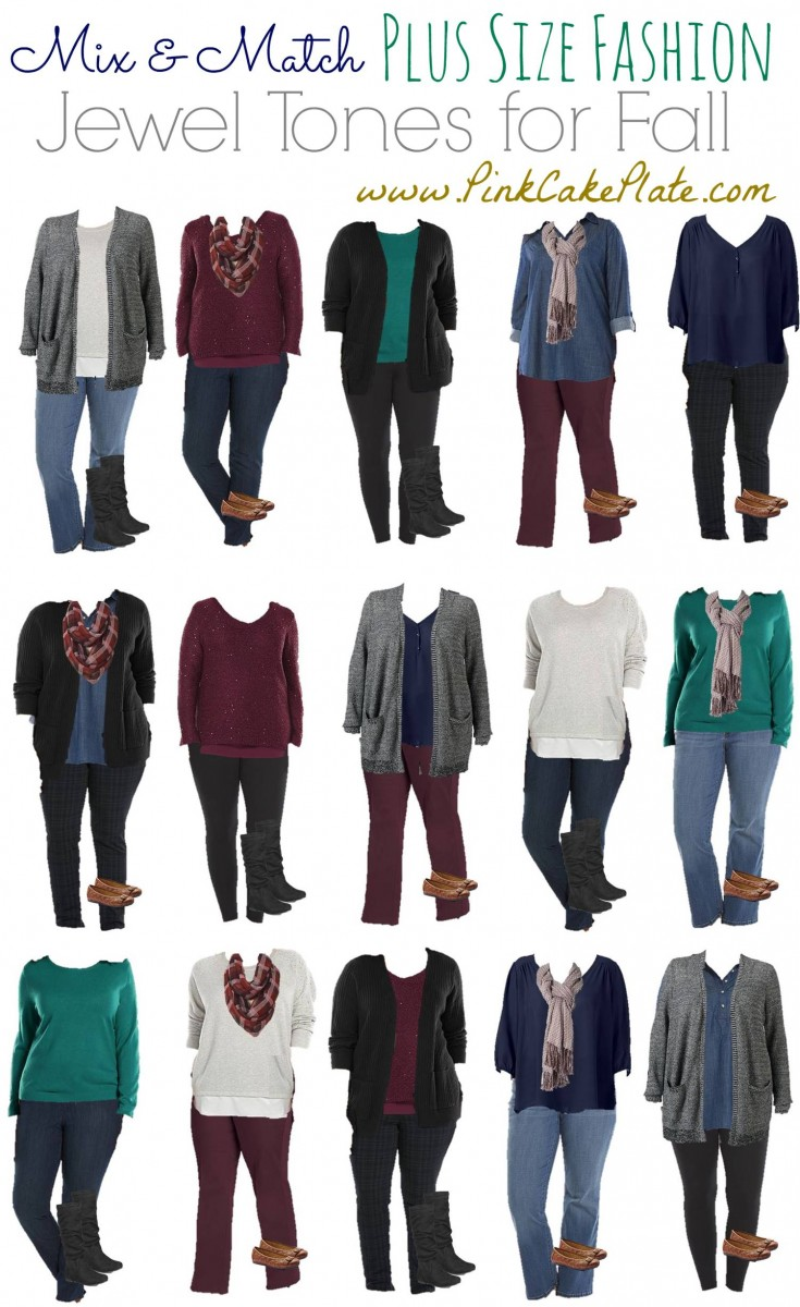 Mix And Match Plus Size Fashion Jewel Tones
