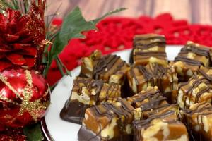 Dark Chocolate Walnut Squares