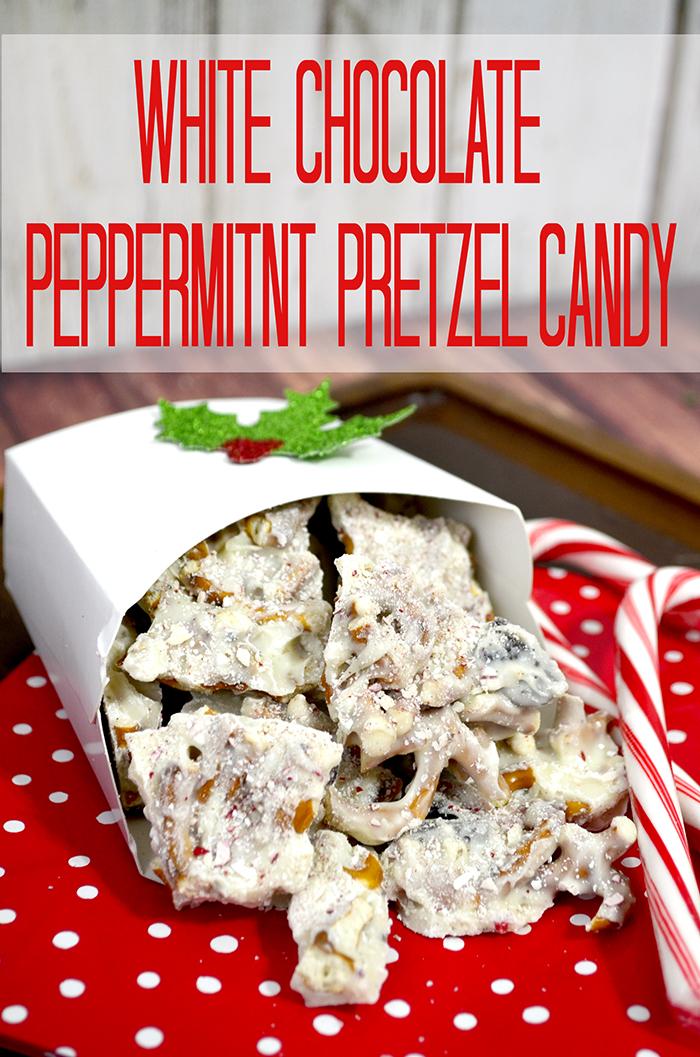 white chocolate peppermint pretzel bark 2