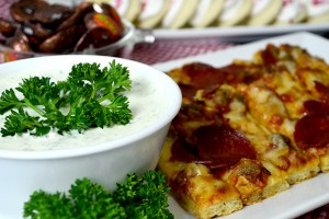 Pizza Fingers with Ranch Dipping Sauce