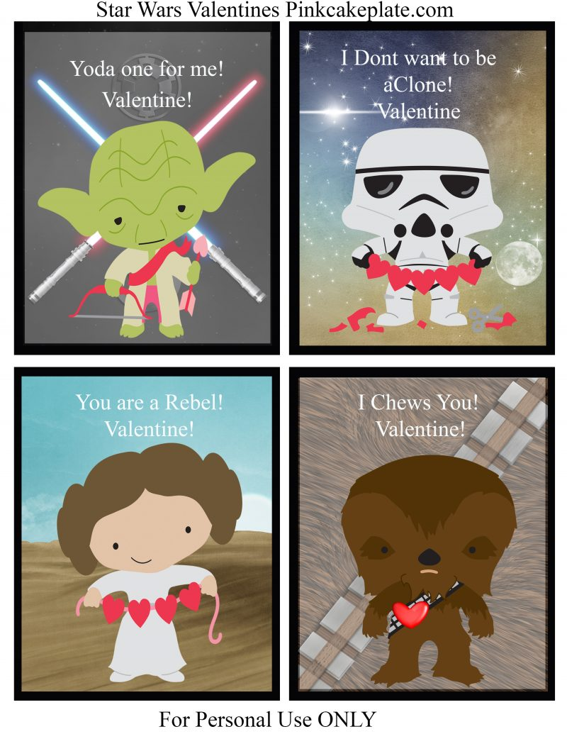 Zany image throughout printable star wars valentine