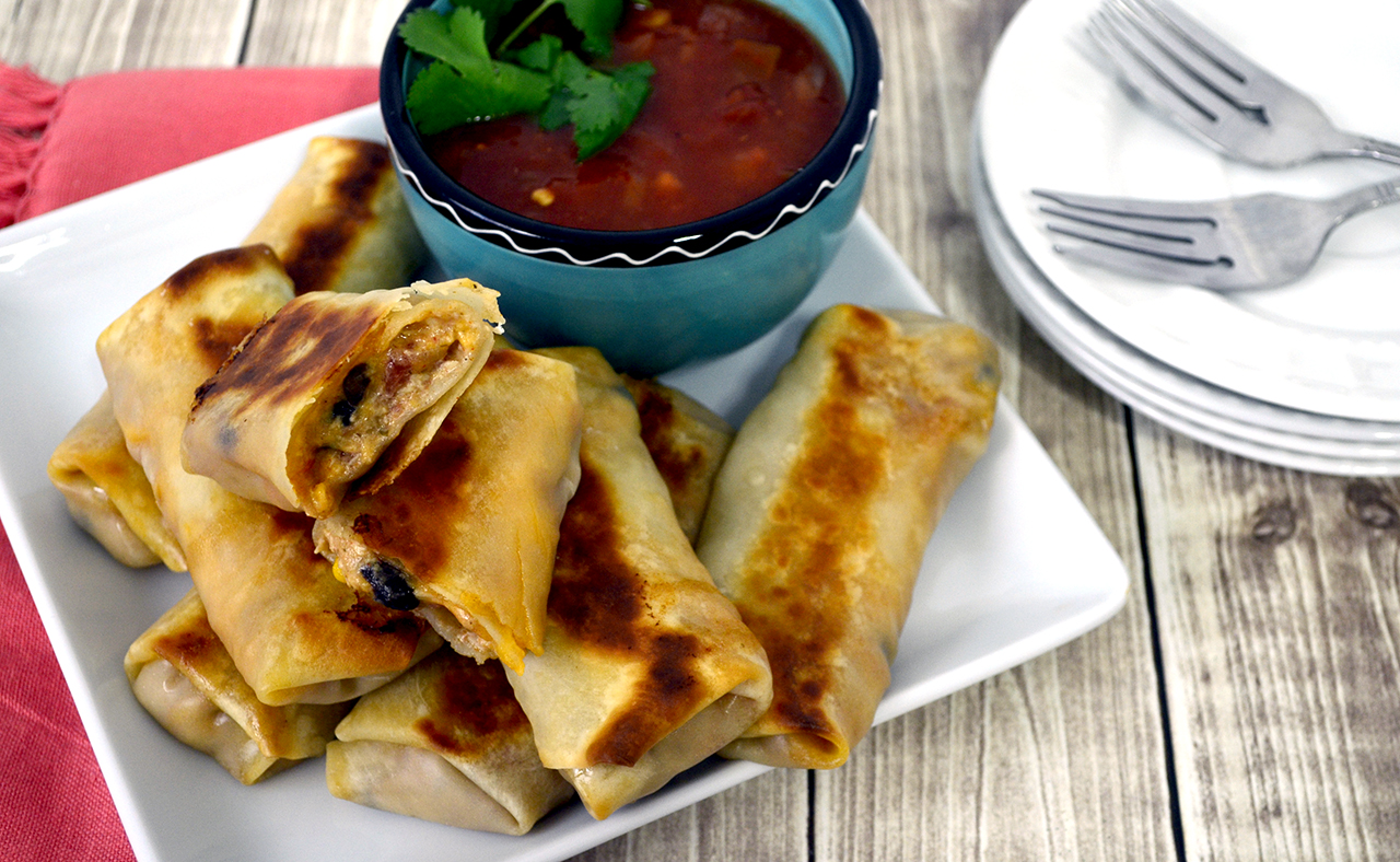 recipe: southwest chicken egg rolls [26]
