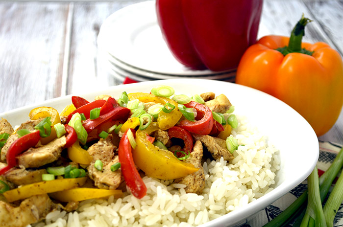 Easy Cajun Chicken and Peppers