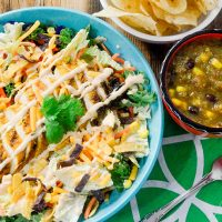 Black Bean and Corn Salsa Verde with Eat Smart Gourmet Vegetable Salad Kit