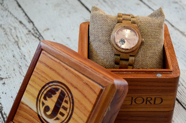 Arm Candy Koa & Rose Gold JORD Wood Watch