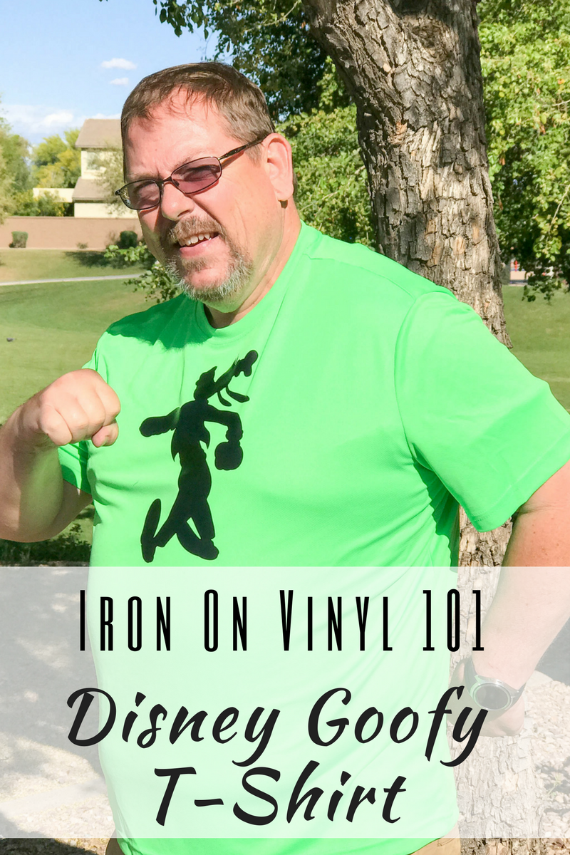 Iron On Vinyl 101 Disney Goofy T-Shirt