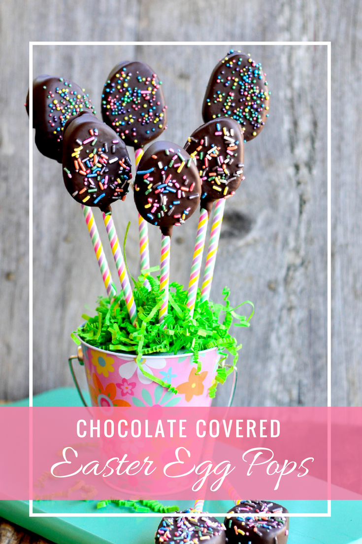 With just a few ingredients you can make these adorable Chocolate Covered Easter Egg Pops