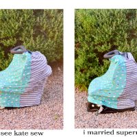 Easy DIY Knit Infant Car Seat Cover
