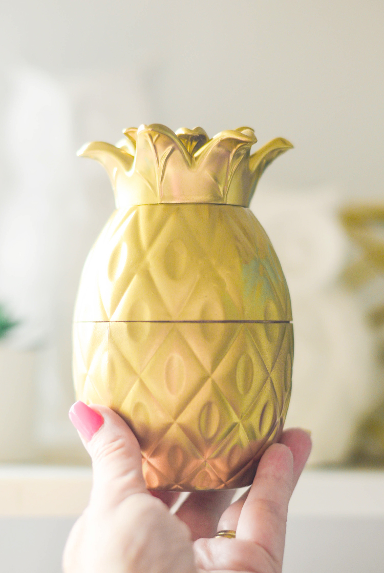 DIY Golden Pineapple Decor pinkcakeplate.com