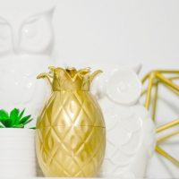 DIY Gold Pineapple Decor