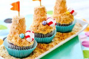 Mini Sand Castle Cupcakes
