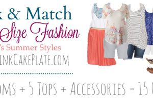 Cute Mix & Match Plus Size Summer Fashion