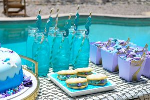 Mermaid Party Punch and Seahorse Sippers