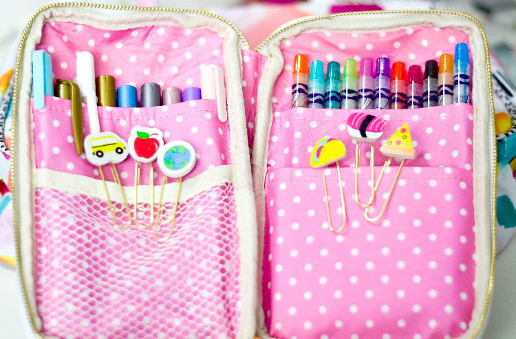 Easy DIY Planner Clips at Pinkcakeplate.com