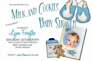 Cookies and Milk Baby Shower Invitations!!