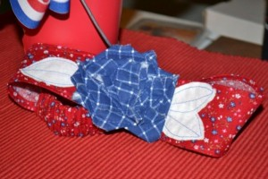 Happy Fourth of July!! Red White and Blue Rose Headband!!