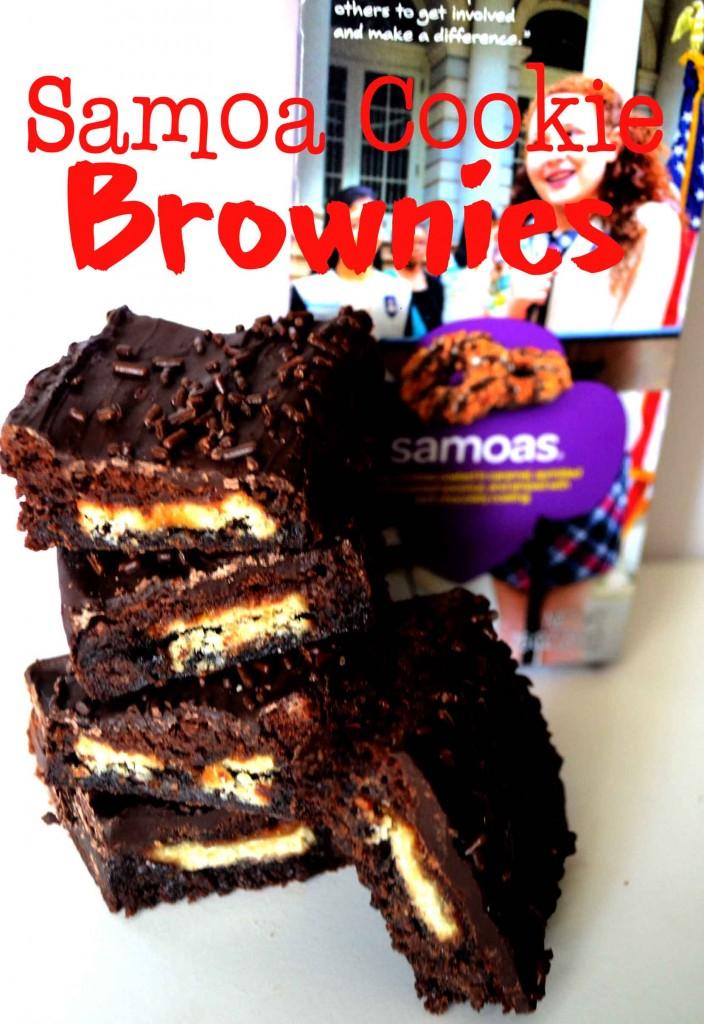 Samao Cookie Brownies @ pinkcakeplate.com