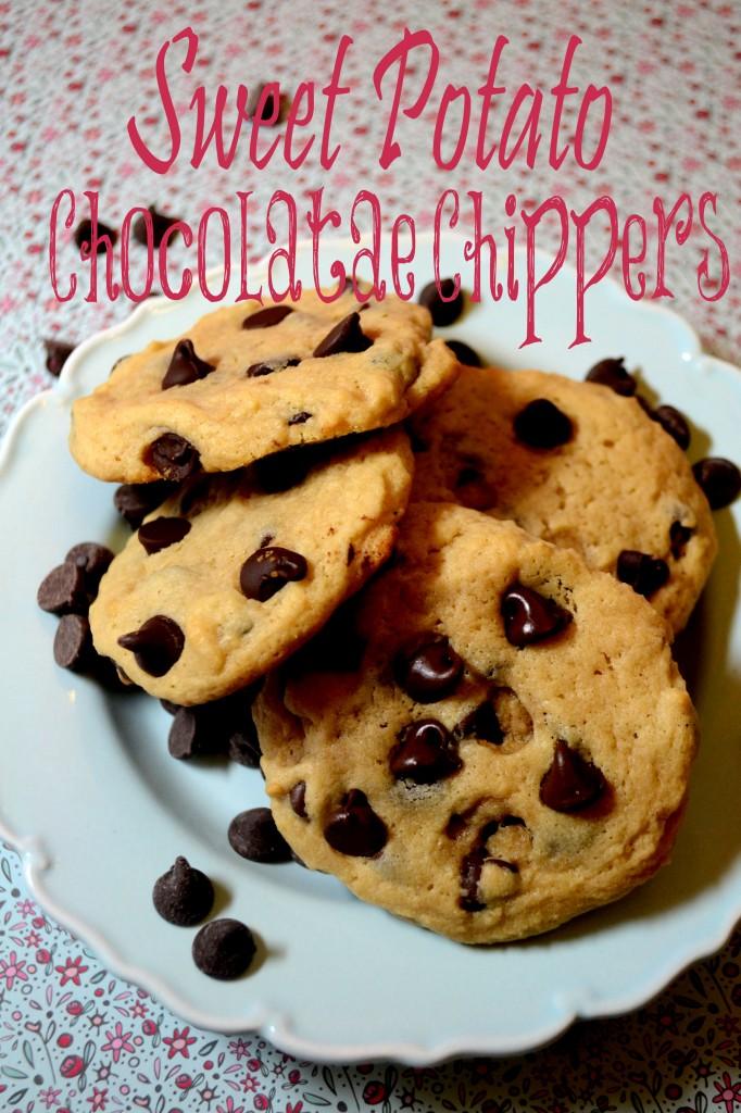 Chocolate Chippers w/Sweet Potato @pinkcakeplate.com