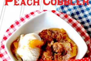 Southern Peach Cobbler {Recipe}