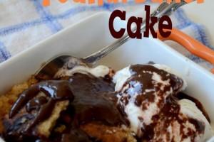 Fudgy Peanut Butter Cake from my Slow Cooker!! It's Crocktoberfest!