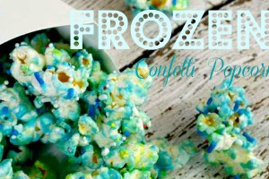 Disney FROZEN Confetti Popcorn recipe!