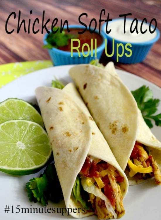 The best Roll Up Chicken Taco Recipe made in only 15 minutes!
