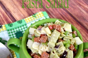 Four Leaf Clover Pasta Salad and Recipe Card!