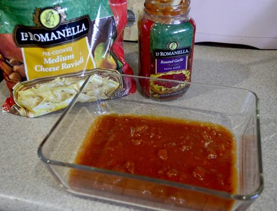 make ahead ravioli bake step 1