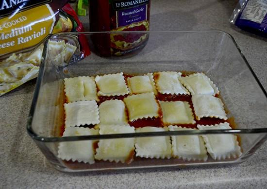 make ahead ravioli bake step 2