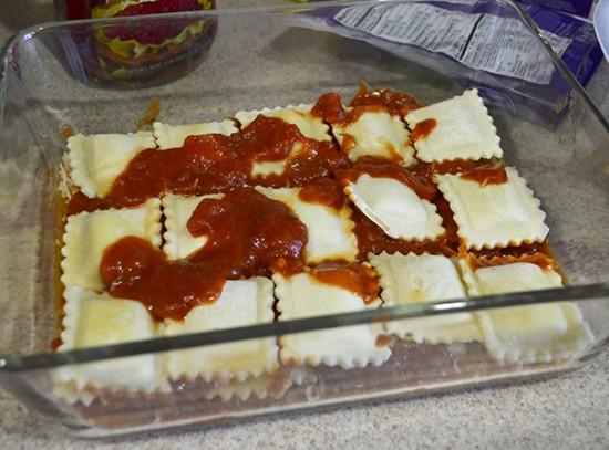 make ahead ravioli bake step 3